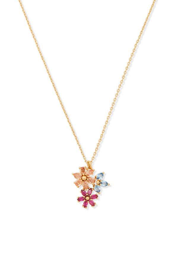 Women's Kate Spade New York First Bloom Floral Cluster Pendant Necklace