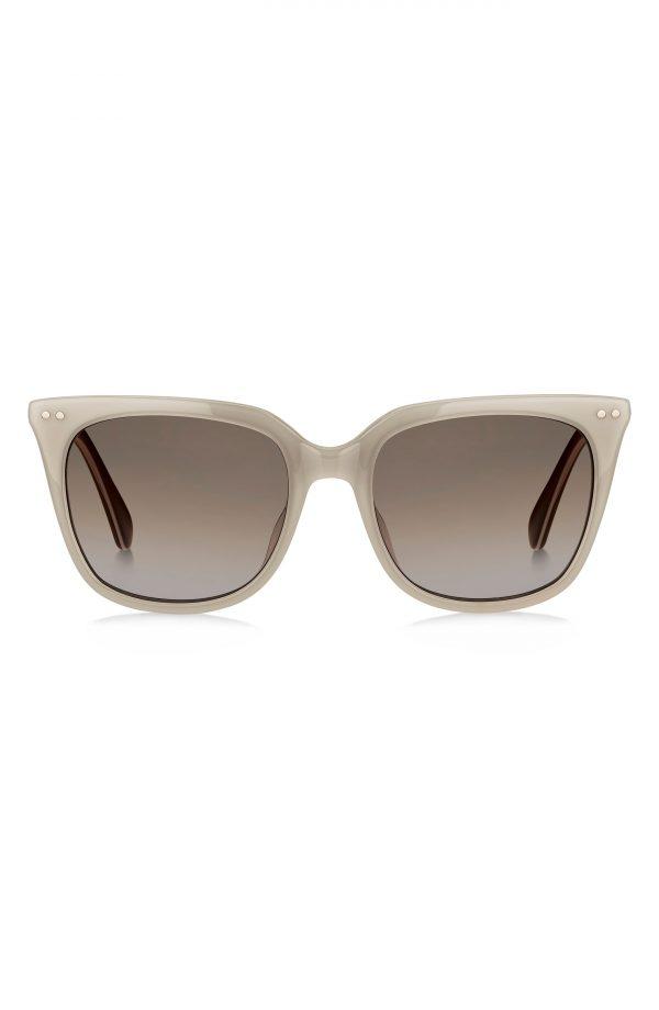 Women's Kate Spade New York Giana 54mm Gradient Cat Eye Sunglasses - Grey/ Brown Gradient