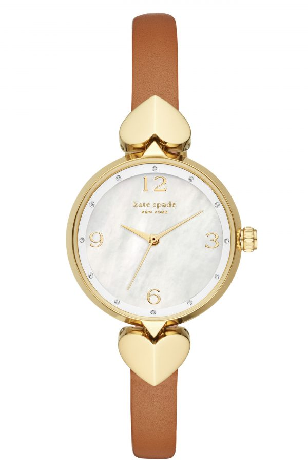 Women's Kate Spade New York Hollis Leather Strap Watch, 30mm