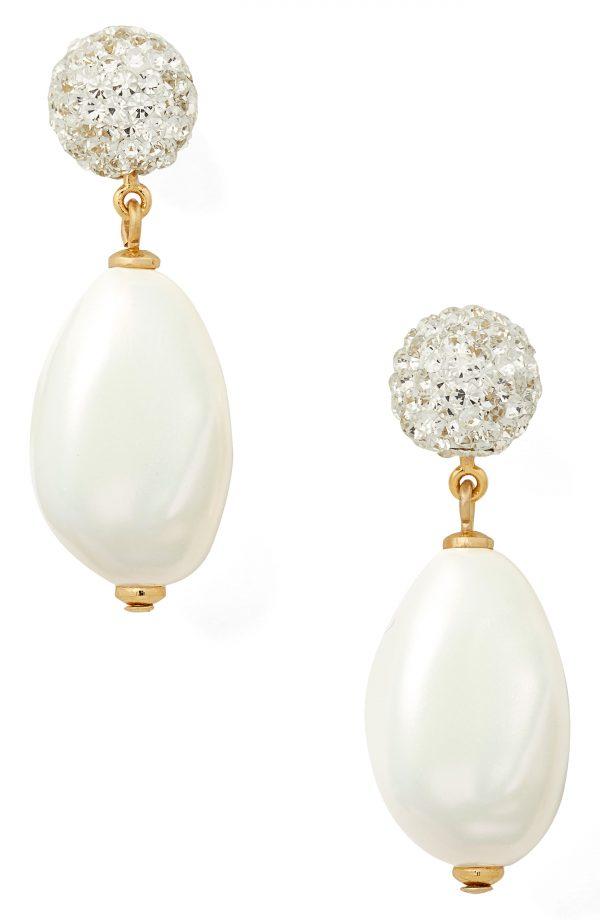 Women's Kate Spade New York Imitation Pearl Power Drop Earrings