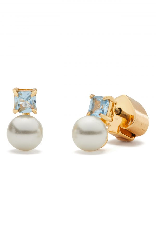 Women's Kate Spade New York Imitation Pearl & Stone Mini Stud Earrings