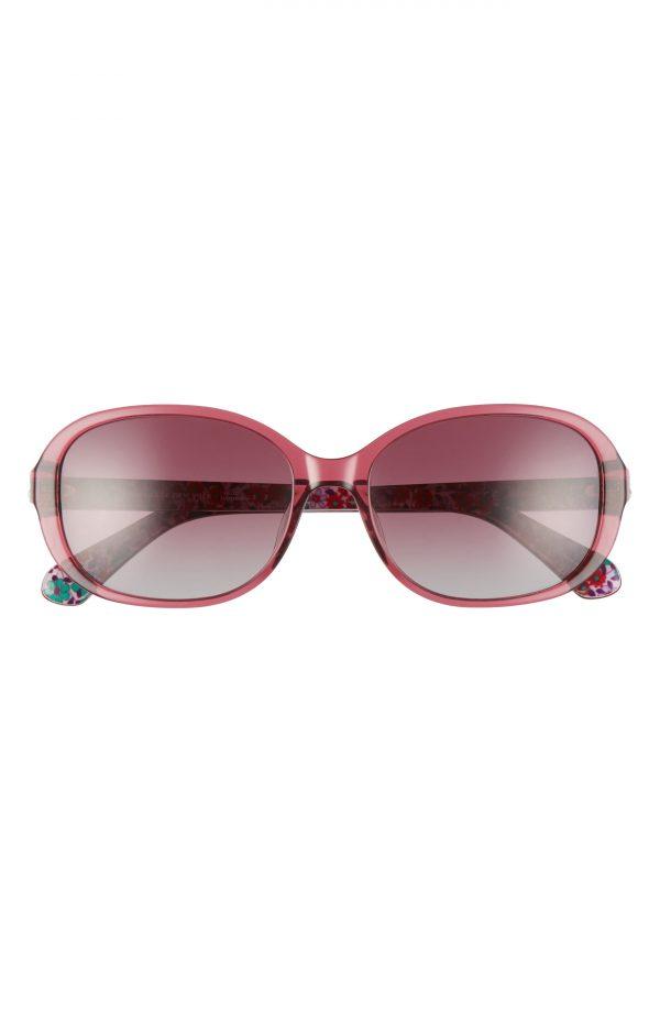 Women's Kate Spade New York Izabella 55mm Gradient Oval Sunglasses - Opal Burgundy/ Burgundy Grad