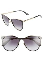 Women's Kate Spade New York Jabreas 57mm Cat Eye Sunglasses - Black/ Blue