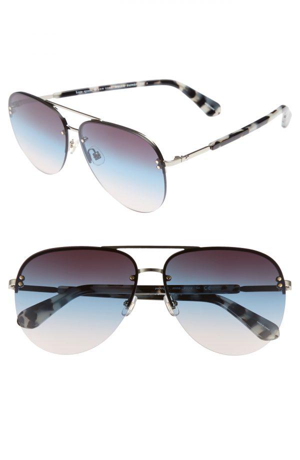 Women's Kate Spade New York Jakaylas 62mm Aviator Sunglasses - Blue Havana