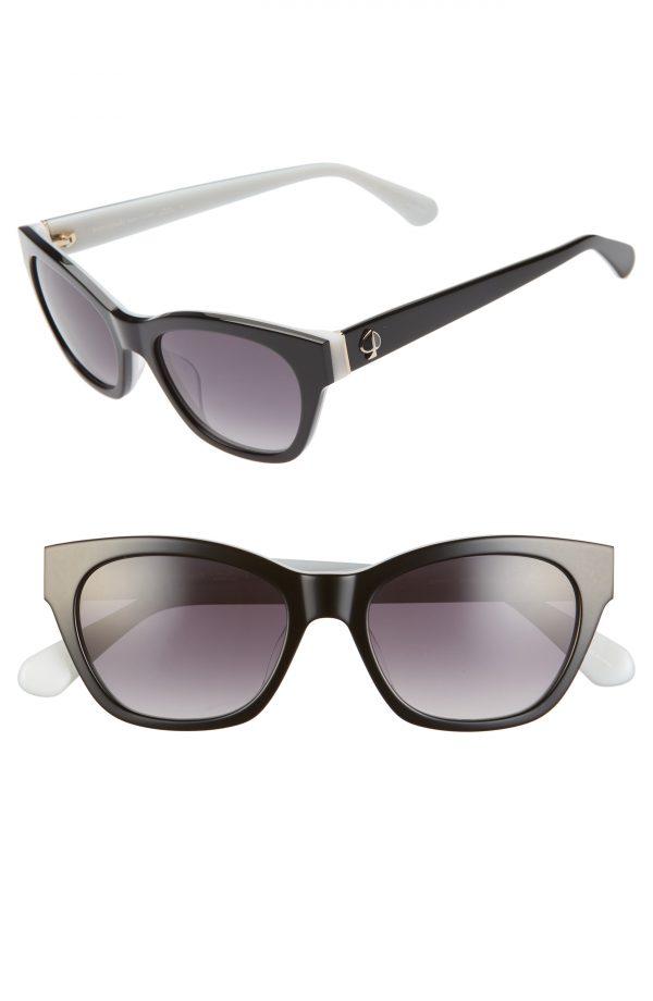 Women's Kate Spade New York Jerris 50mm Cat Eye Sunglasses - Black