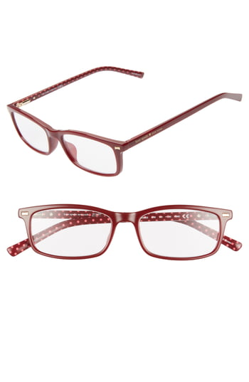 Women's Kate Spade New York Jodie 50mm Rectangular Reading Glasses - Burgundy Pattern