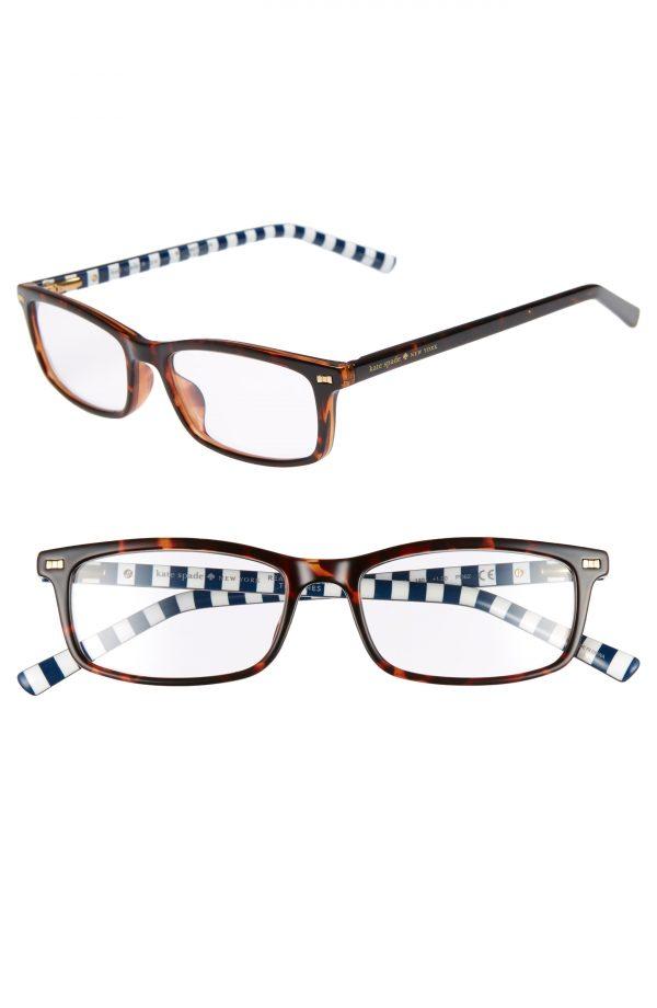 Women's Kate Spade New York Jodie 50mm Rectangular Reading Glasses - Havana Pattern