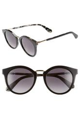 Women's Kate Spade New York Joylyn 50mm Round Sunglasses - Black Havana