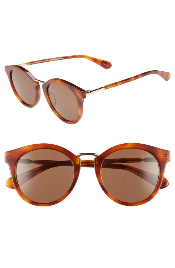 Women's Kate Spade New York Joylyn 50mm Round Sunglasses - Dark Havana