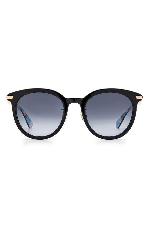 Women's Kate Spade New York Keesey 53mm Gradient Cat Eye Sunglasses - Black/ Grey Shaded