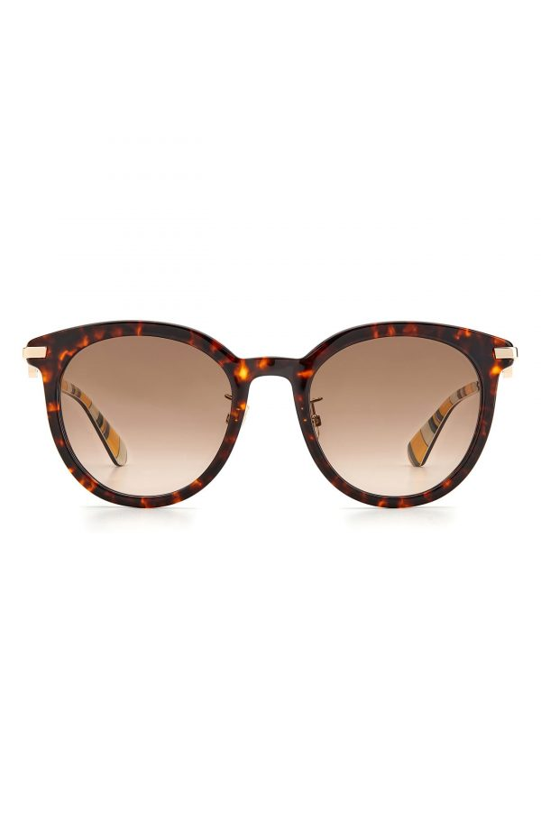 Women's Kate Spade New York Keesey 53mm Gradient Cat Eye Sunglasses - Dark Havana/ Brown Gradient