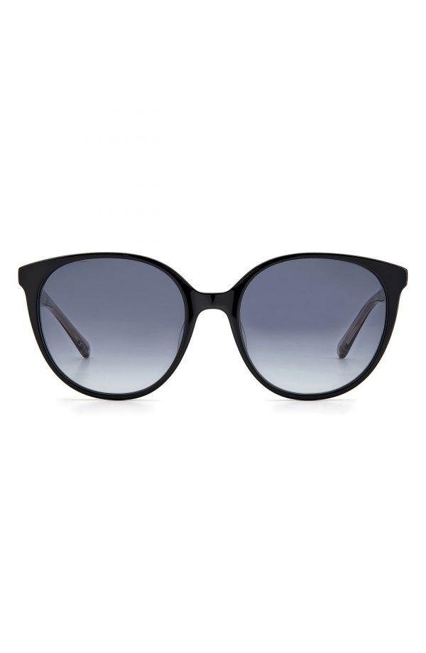Women's Kate Spade New York Kimberlyn 56mm Gradient Cat Eye Sunglasses - Black/ Grey Shaded
