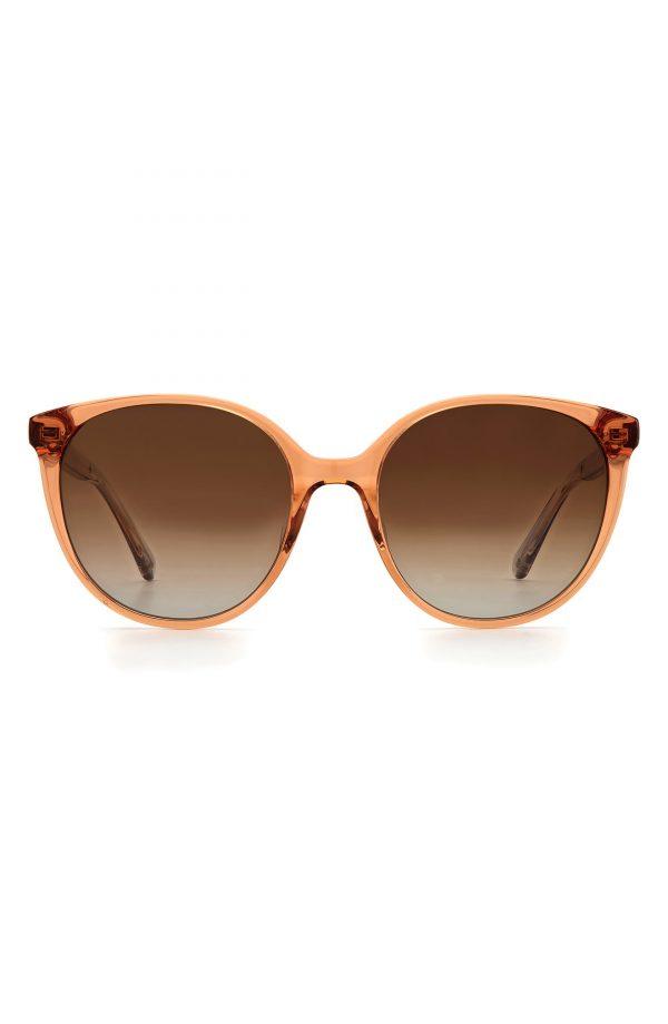 Women's Kate Spade New York Kimberlyn 56mm Gradient Cat Eye Sunglasses - Crystal Brown/ Brown Gradient