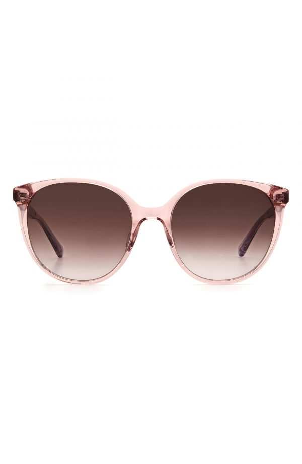 Women's Kate Spade New York Kimberlyn 56mm Gradient Cat Eye Sunglasses - Pink/ Brown Gradient