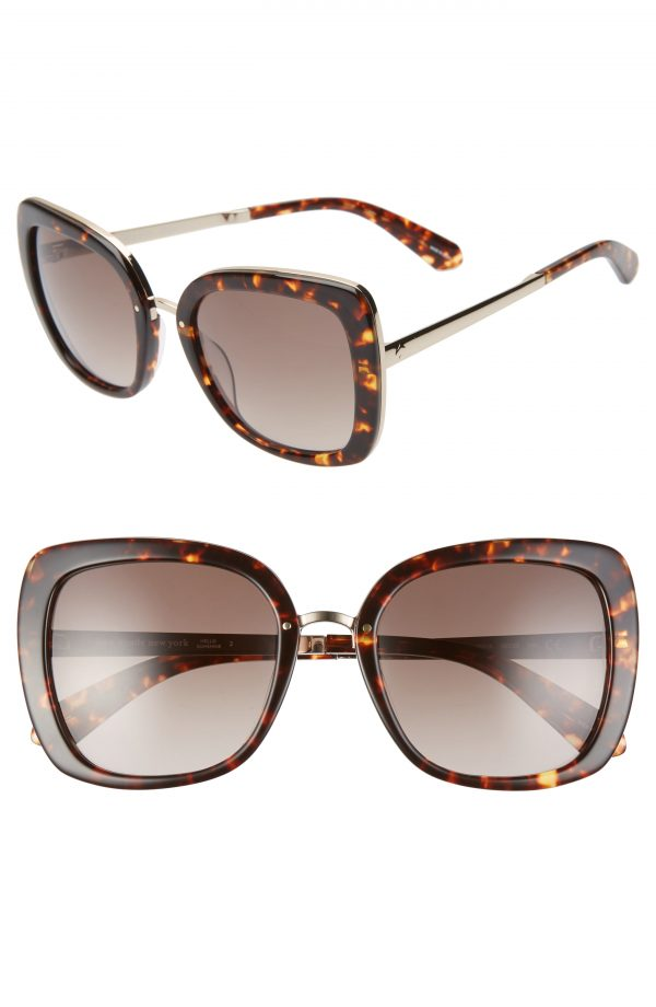 Women's Kate Spade New York Kimora 54mm Gradient Sunglasses - Dark Havana/ Brown Grad