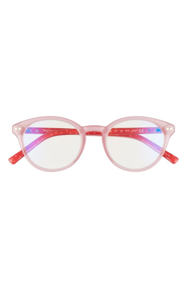 Women's Kate Spade New York Kinslee 48mm Blue Light Blocking Reading Glasses - Pink
