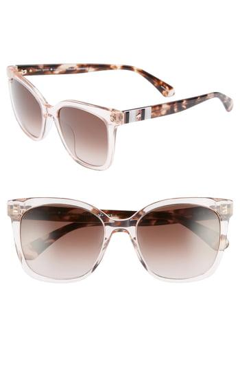 Women's Kate Spade New York Kiya 53mm Sunglasses - Peach