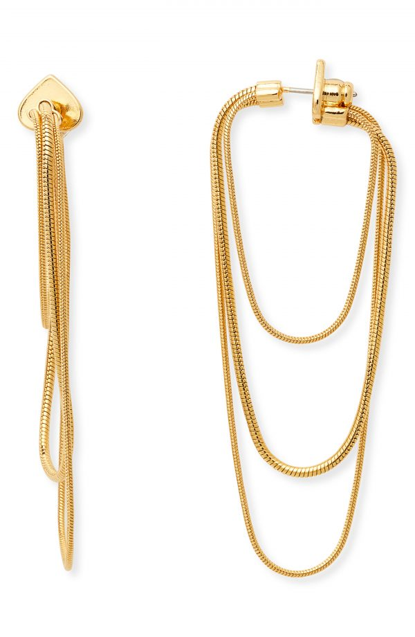 Women's Kate Spade New York Large Snake Chain Hoop Earrings