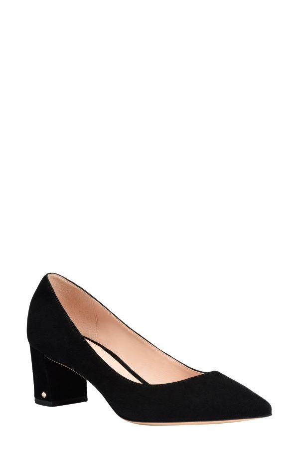 Women's Kate Spade New York Menorca Pointed Toe Pump, Size 7.5 B - Black