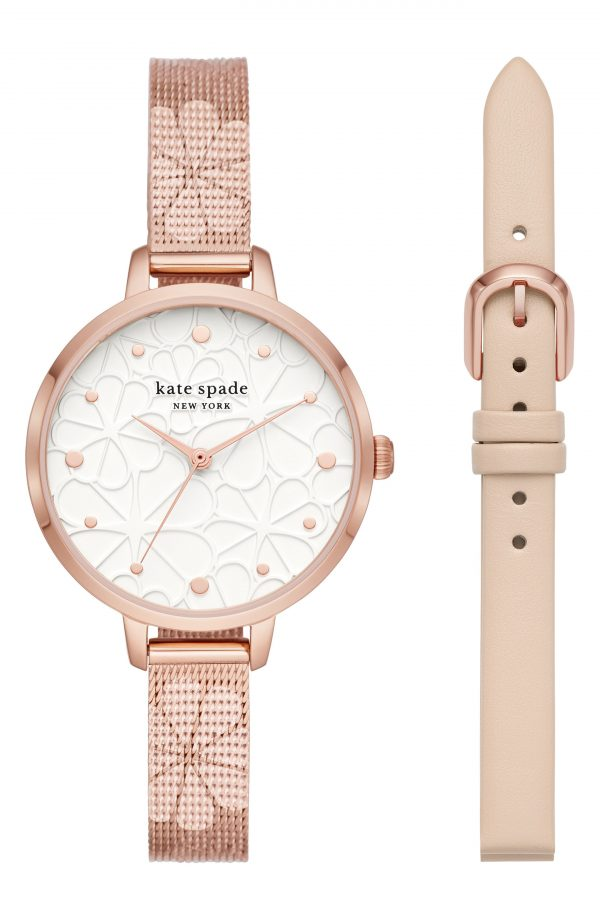 Women's Kate Spade New York Metro Watch Gift Set, 34mm