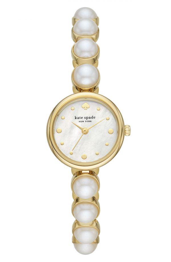 Women's Kate Spade New York Monroe Imitation Pearl Bracelet Watch, 24mm