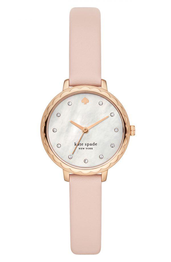 Women's Kate Spade New York Morningside Leather Strap Watch, 28mm