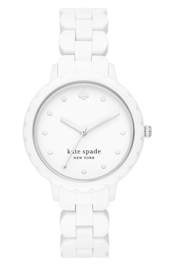 Women's Kate Spade New York Morningside Silicone Strap Watch, 38mm