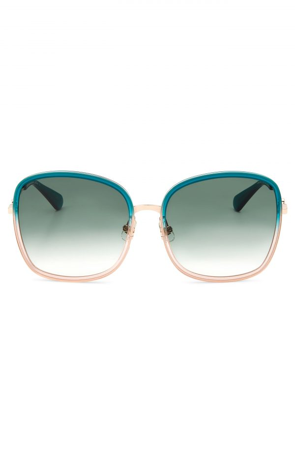 Women's Kate Spade New York Paola 59mm Gradient Square Sunglasses - Teal/ Grey Green Gradient