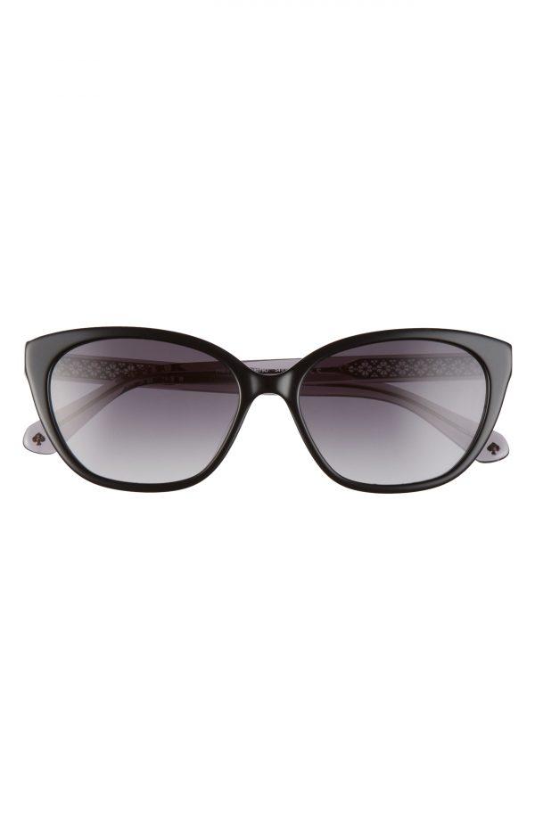 Women's Kate Spade New York Phillipa 54mm Gradient Cat Eye Sunglasses - Black/ Dark Grey