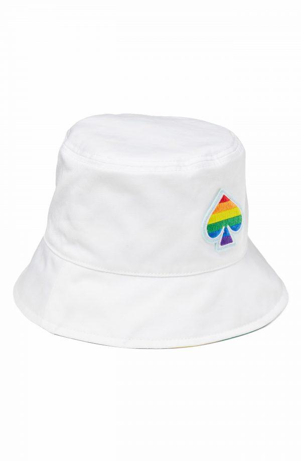 Women's Kate Spade New York Pride Reversible Bucket Hat - White