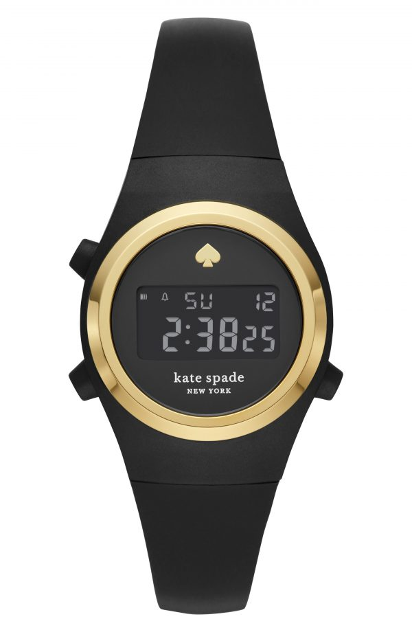 Women's Kate Spade New York Rumsey Digital Silicone Strap Watch, 32mm