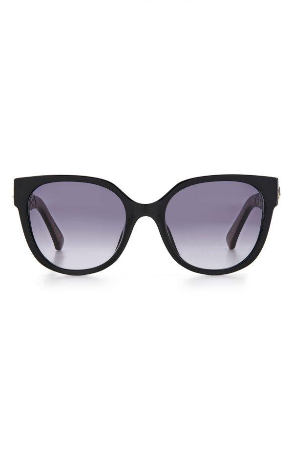 Women's Kate Spade New York Ryleigh 54mm Gradient Sunglasses - Black/ Grey Shaded