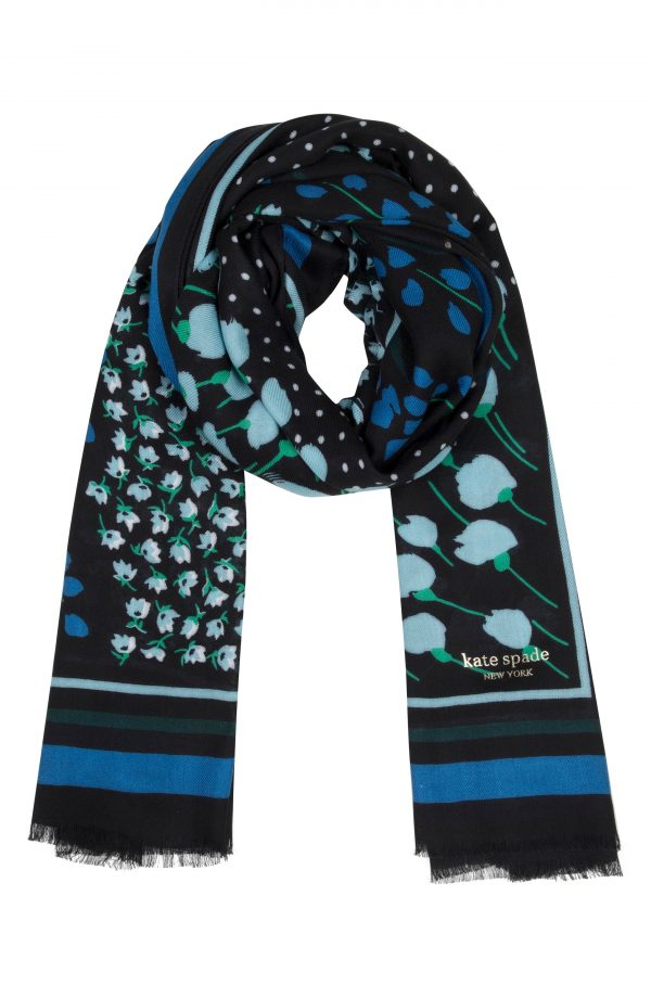 Women's Kate Spade New York Seabreeze Patchwork Oblong Scarf, Size One Size - Black