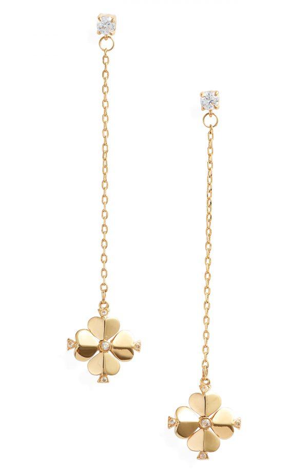 Women's Kate Spade New York Spade Flower Linear Earrings