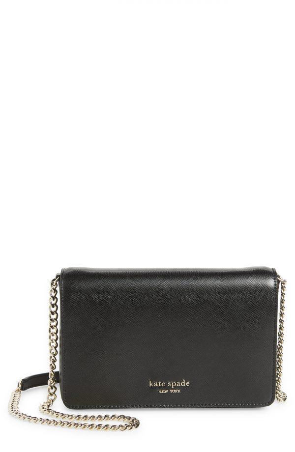 Women's Kate Spade New York Spencer Chain Wallet - Black