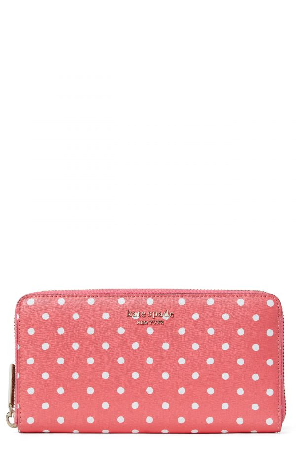 Women's Kate Spade New York Spencer Dots Continental Wallet - Pink