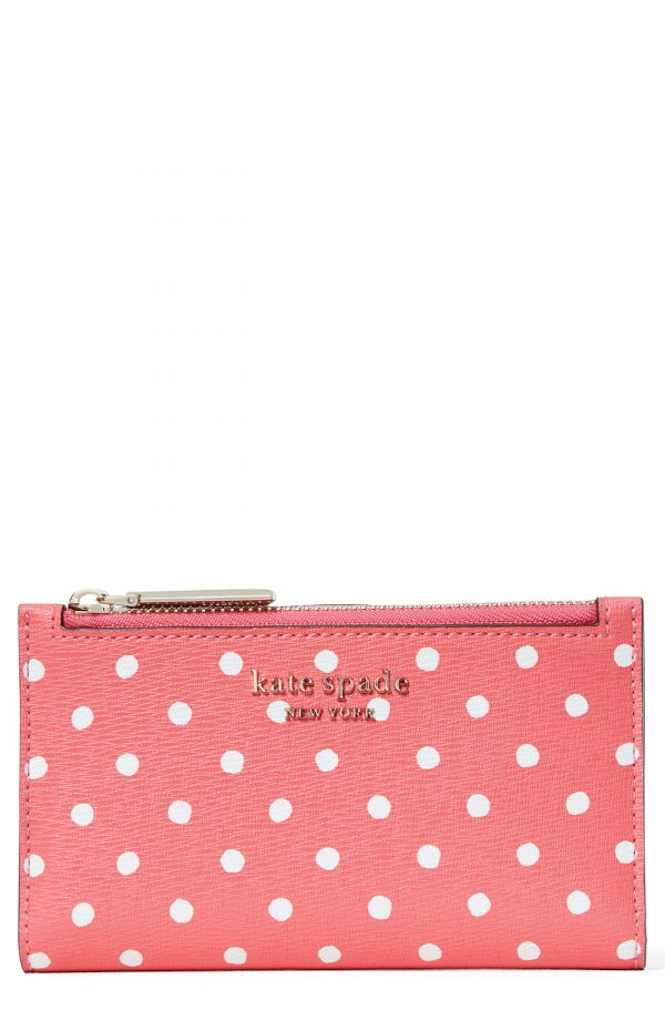 Women's Kate Spade New York Spencer Dots Slim Bifold Wallet - Pink