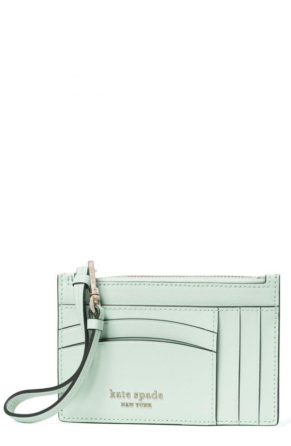Women's Kate Spade New York Spencer Leather Wristlet Card Case - Blue
