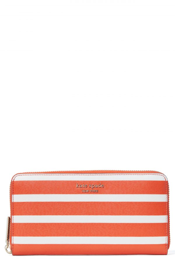 Women's Kate Spade New York Spencer Stripe Continental Wallet - Red
