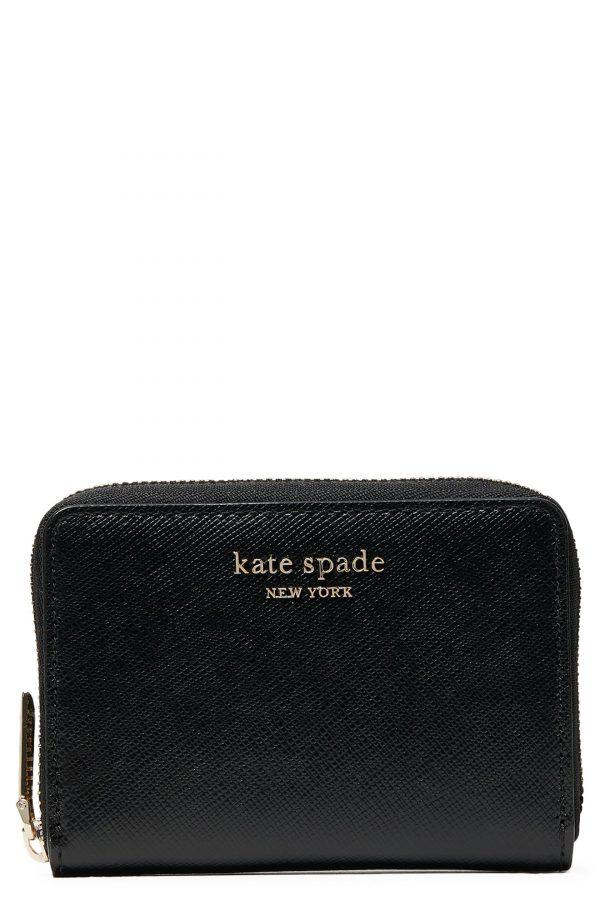 Women's Kate Spade New York Spencer Zip Leather Card Case - Black