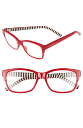 Women's Kate Spade New York Tenil 52mm Reading Glasses - Milky Red
