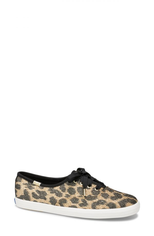 Women's Keds X Kate Spade New York Glitter Sneaker, Size 6 M - Brown