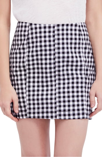 Women's We The Free By Free People Modern Femme Miniskirt, Size 12 - Black