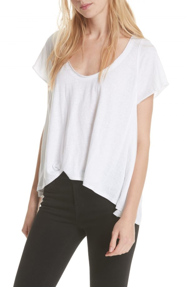 Women's We The Free By Free People Nori Tee, Size Small - White