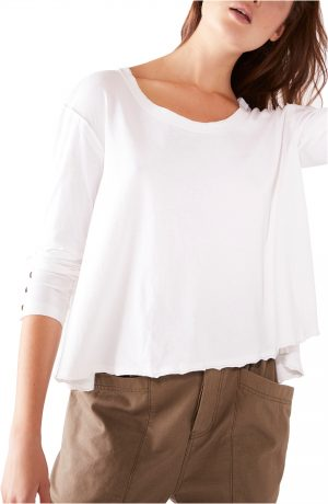 Women's We The Free By Free People Peony Long Sleeve Top, Size Medium - White