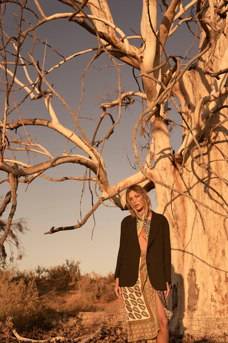 Anja Rubik Embraces Zara's Bohemian Styles for Spring