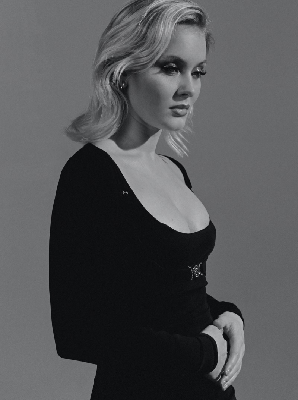 Singer Zara Larsson poses for Clash Magazine. Photo: Luc Coiffait