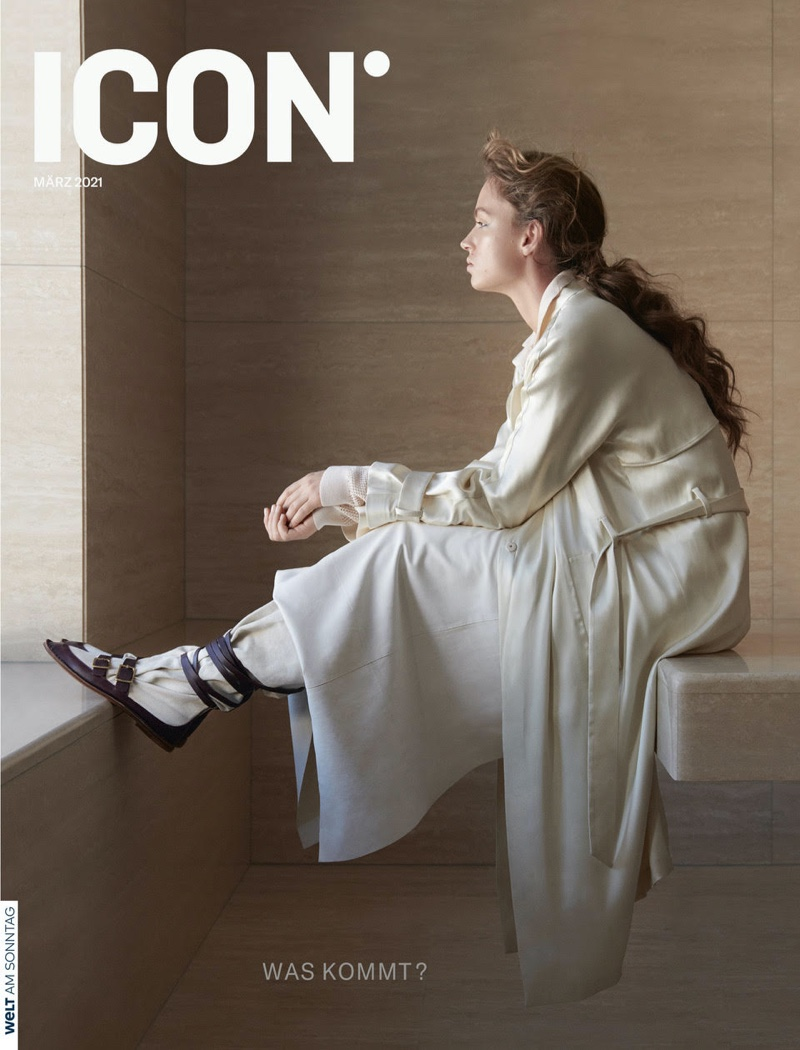 Adrienne Juliger on ICON Magazine March 2021 Cover