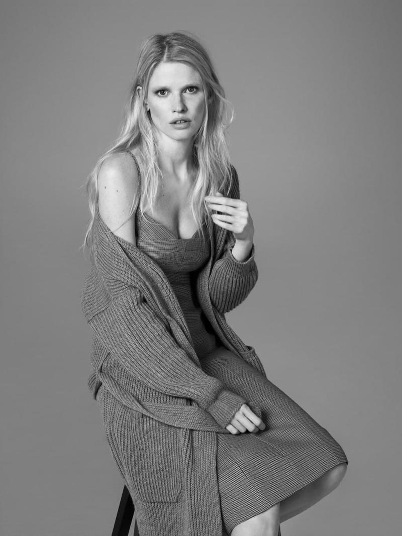 Lara Stone stars in Alessandro Dell'Acqua X Elena Mirò campaign.