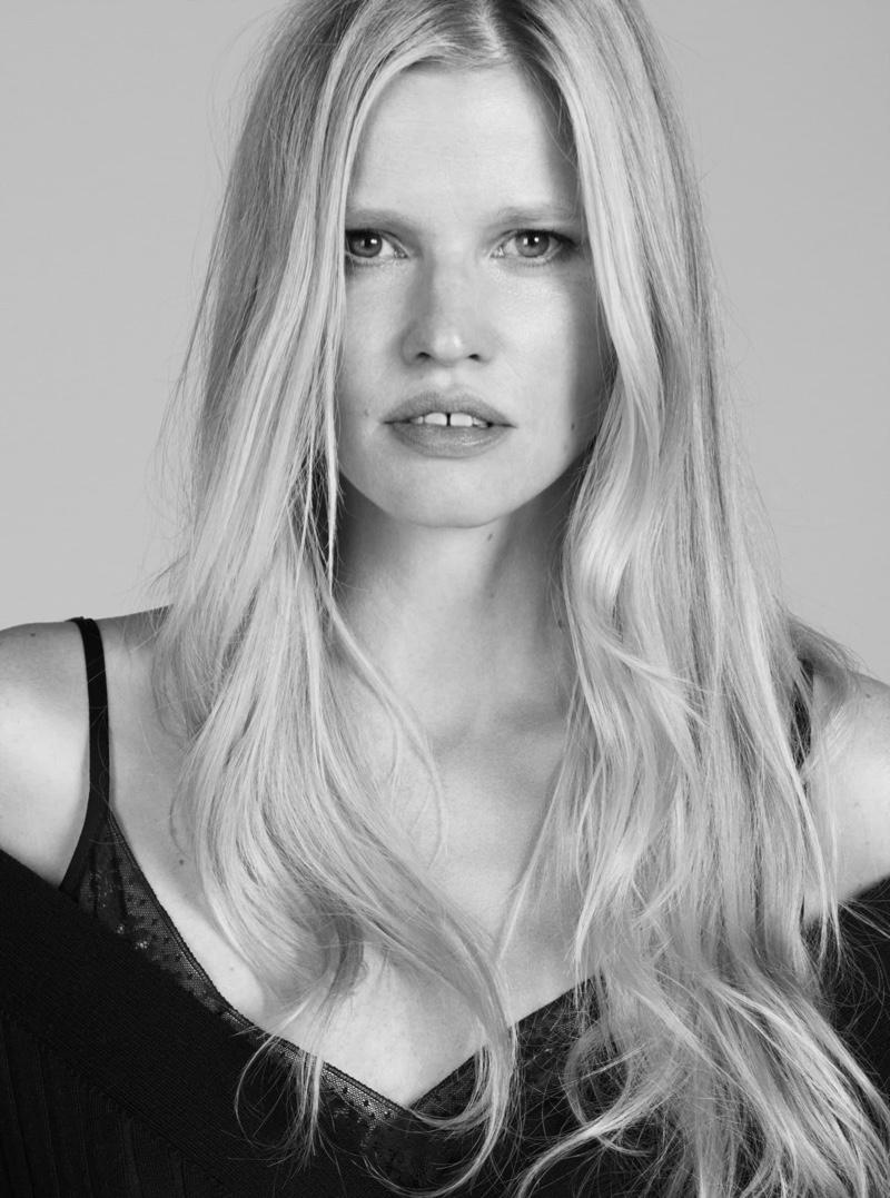 Lara Stone gets her closeup in Alessandro Dell'Acqua X Elena Mirò campaign.